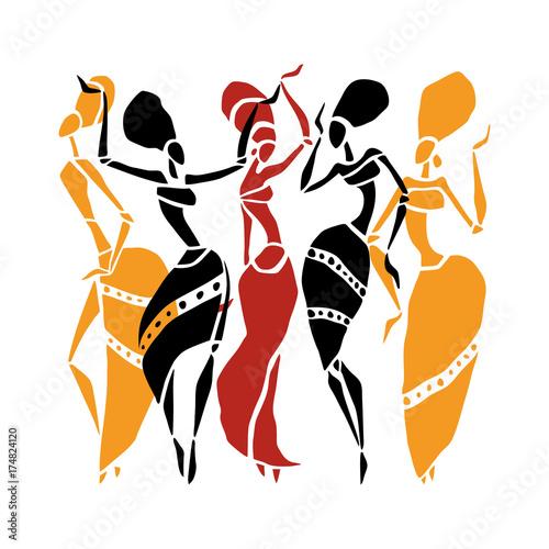 African Beautiful Women Canvas Print