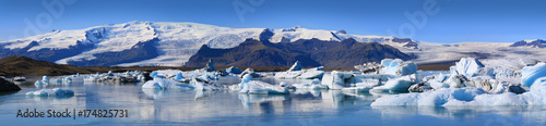 Printed kitchen splashbacks Glaciers Glacial lake Jokulsarlon, Iceland