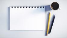 Schreibblock Mit Stiften Und K...