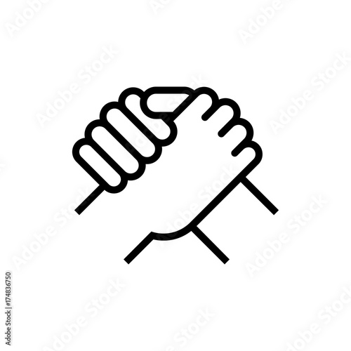 Tablou Canvas Handshake of business partners