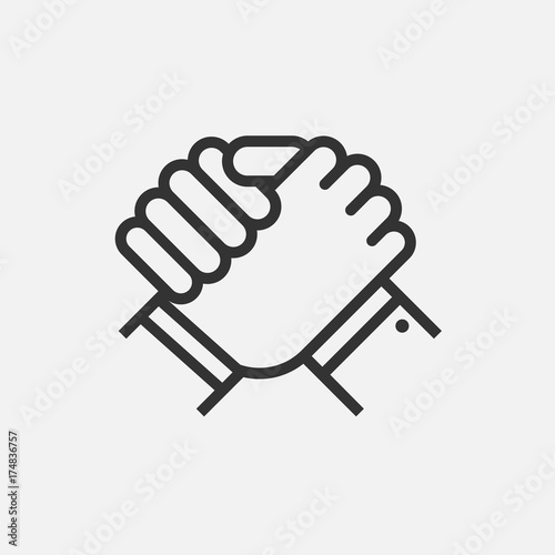 Fotografie, Obraz  Handshake of business partners