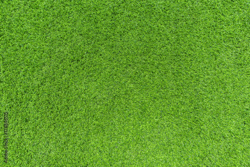 Foto op Aluminium Gras Natural grass texture patterned background in golf course turf from top view: