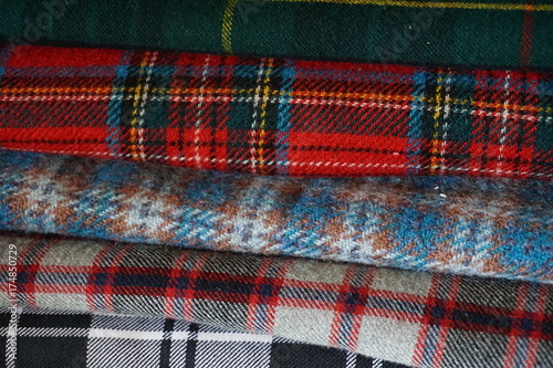 Colorful tartan plaid fabric