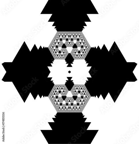 Plakat Fraktal streszczenie tło.