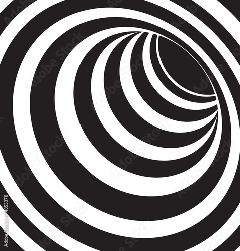 Poster Spirale black and white 3d shapes vector