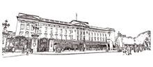 Sketch Of Buckingham Palace Lo...