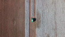 Aerial View Of A Large Green C...
