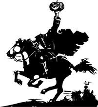 Headless Horseman Woodcut