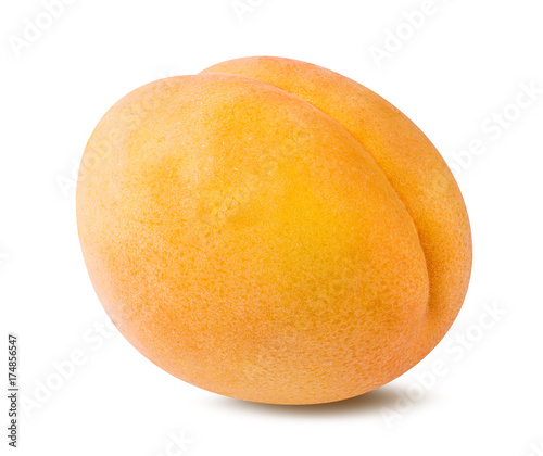 Fototapeta Fresh apricot isolated on white background obraz na płótnie