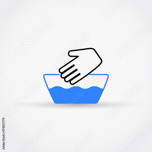 Hand Wash Vector Icon Not Machine Washable Symbol Buy This Stock