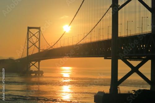 Obraz na dibondzie (fotoboard) Most wiszący