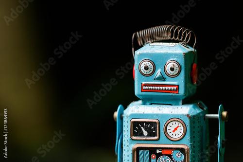 Photo  retro robot toy
