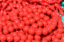 Beads Red Beautiful Texture. F...