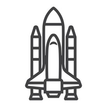 Space Shuttle Line Icon, Trans...