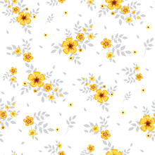 Seamless Floral Pattern. Backg...