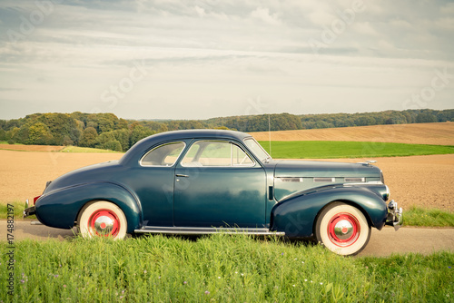 Poster  Oldtimer Cadillac Lasalle Coupe 1940, Seitenansicht