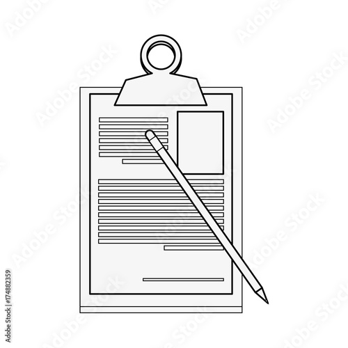 clipboard with cv icon image vector illustration design