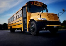 School Bus Front Right View Fr...