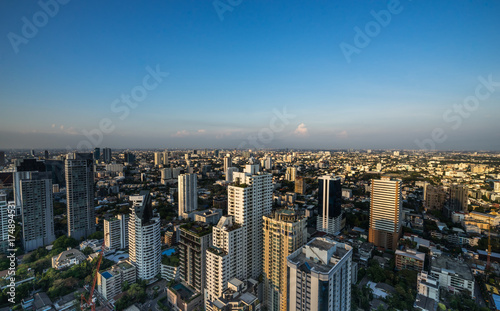 urban cityscape view on day time Wallpaper Mural