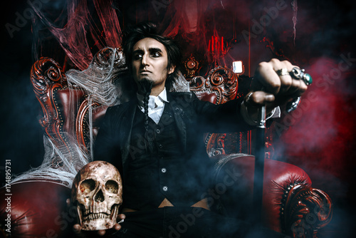 aristocrat vampire man Canvas Print