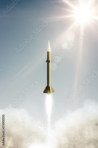 Plakat test rakiet jądrowych
