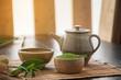Matcha. Organic Green Matcha Tea ceremony. Matcha powder. Cooking with matcha.