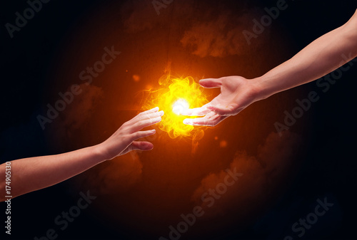Canvas Prints Flame Arms reaching for the sun