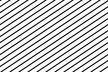 Stripes Diagonal Seamless Pattern, Texture. White On Black. Vector Illustration.