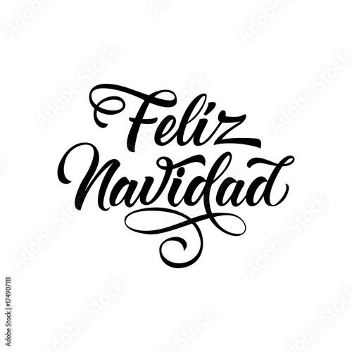 Fotografie, Obraz Feliz Navidad Lettering