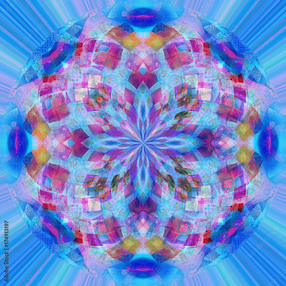 Photo  Mandala frattale cruciforme