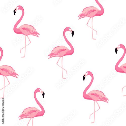Seamless Flamingo Pattern Background Poster Design Wallpaper Invitation Cards Textile Print Vector Ilration