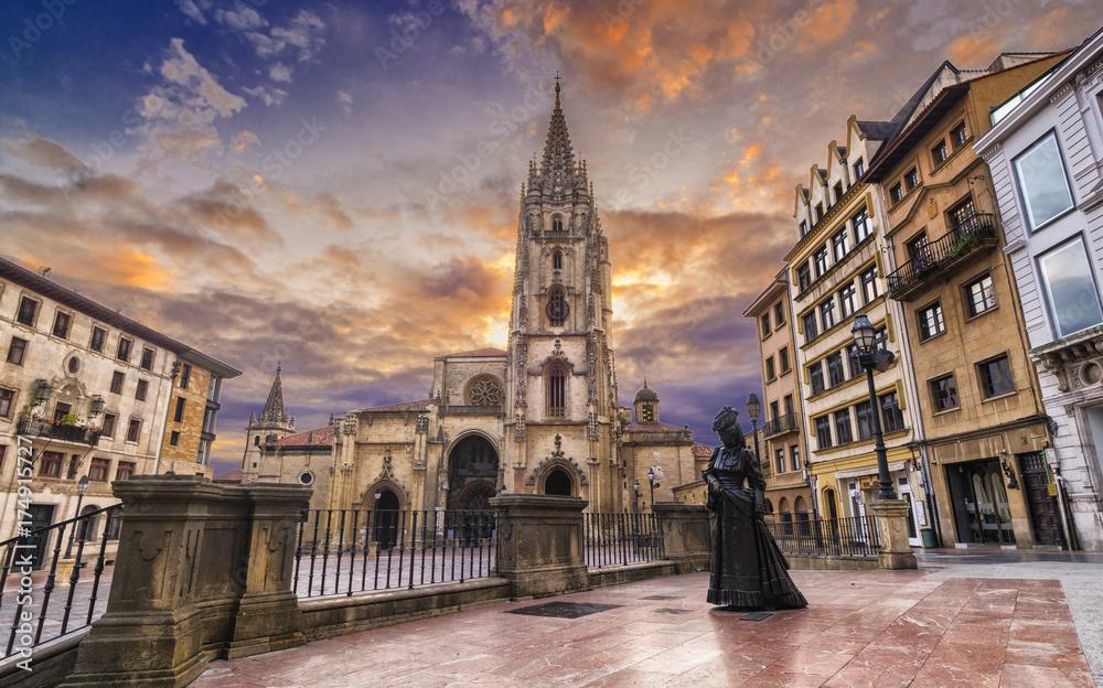 Fototapety, obrazy: Oviedo,catedral de San Salvador