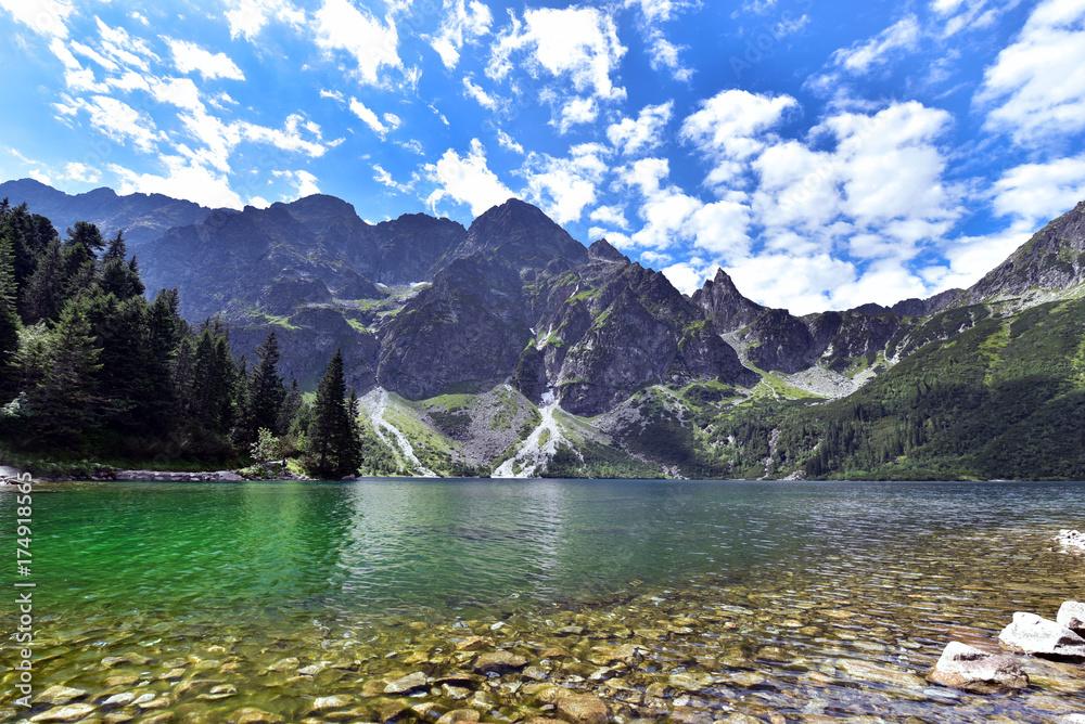 Fototapety, obrazy: Lake Morskie Oko (Eye of the Sea), Zakopane, Carpathian Mountains, Poland