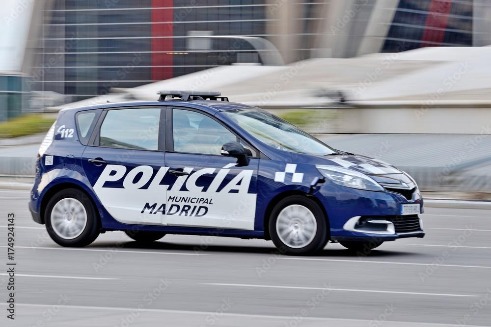 Fototapeta Policía de Madrid