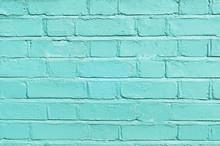 Turquoise Brickwork (background, Texture)