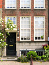 The Door, The Porch, The Dutch Windows, The Facade Of The House, Bicycles, Amsterdam.
