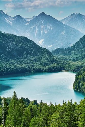 Plakat Jezioro Alpensee w Alpach