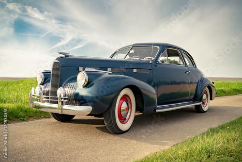 Oldtimer Cadillac Lasalle Coupe 1940, Nahaufnahme Fotobehang