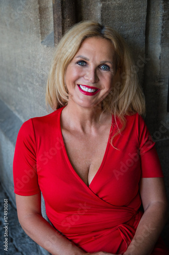 In lady mature red
