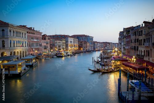 Plakat Kanał Grande nocą, Wenecja