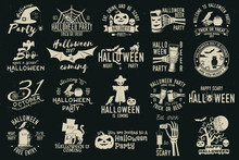 Set Of Halloween Celebration Collection.