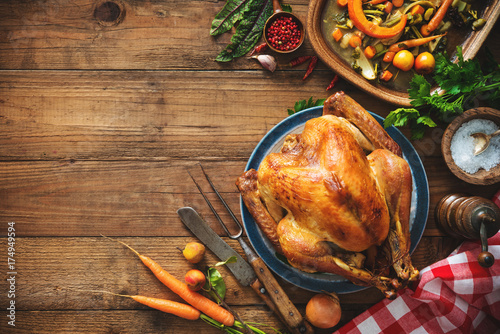 Fotografia  Christmas or Thanksgiving turkey