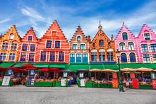 Grote Markt Square In Brugge