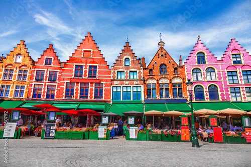 Keuken foto achterwand Brugge Grote Markt square in Brugge