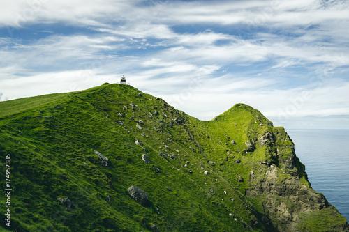 Canvas-taulu Un paysage de pays du nord de crêtes, fjord, montagne, océan