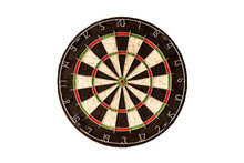 Empty Dart Board On A White Ba...