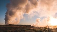 Sunrise Over Gunnuhver, Iceland