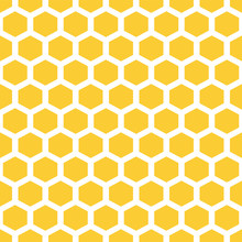 Bee Honeycombs. Yellow And Wh...
