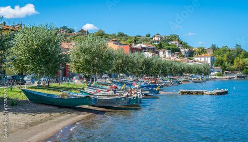 Scenic sight in Marta, on the Bolsena Lake, province of Viterbo, Lazio Wallpaper Mural