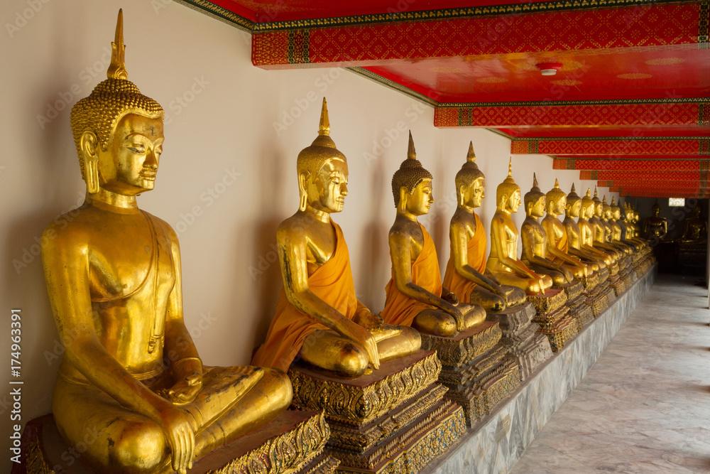 Thailand Bangkok Grand Palace Gold Buddha Statues Poster